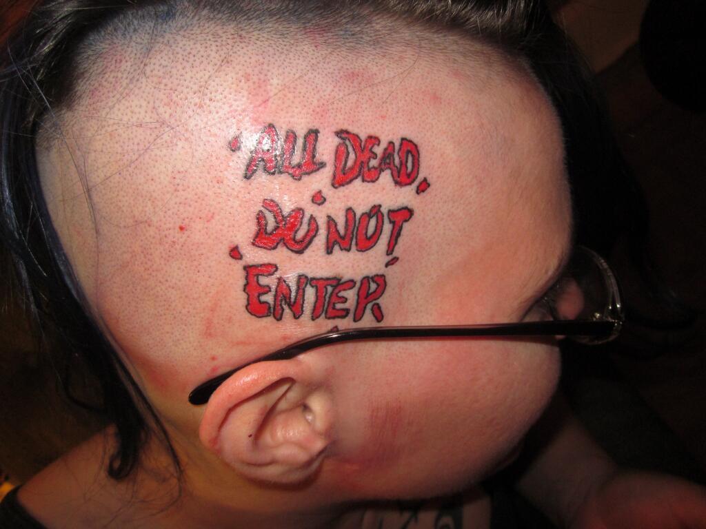 TWD head tat