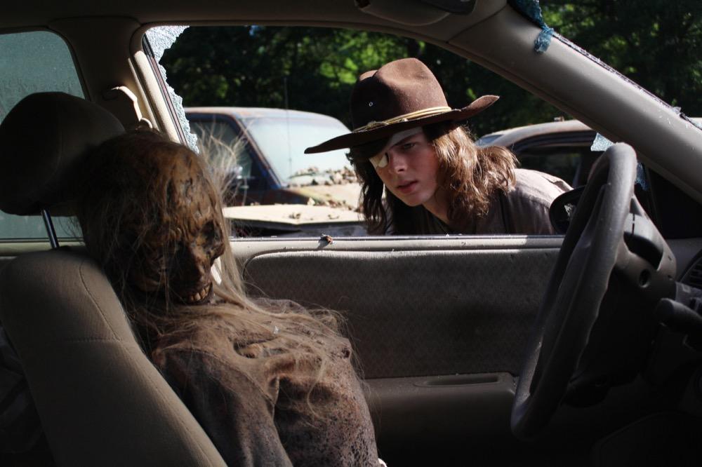 Chandler Riggs as Carl Grimes- The Walking Dead _ Season 8, Episode 1 - Photo Credit: Greg Nicotero/AMC