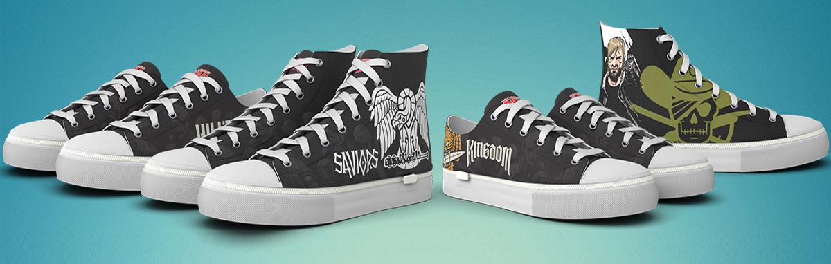 The Walking Dead Fan Kicks Shoes Now