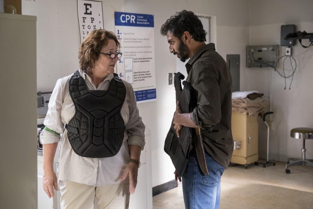 Peggy Sheffield as Dana, Avi Nash as Saddiq - The Walking Dead _ Season 8, Episode 13 - Photo Credit: Gene Page/AMC