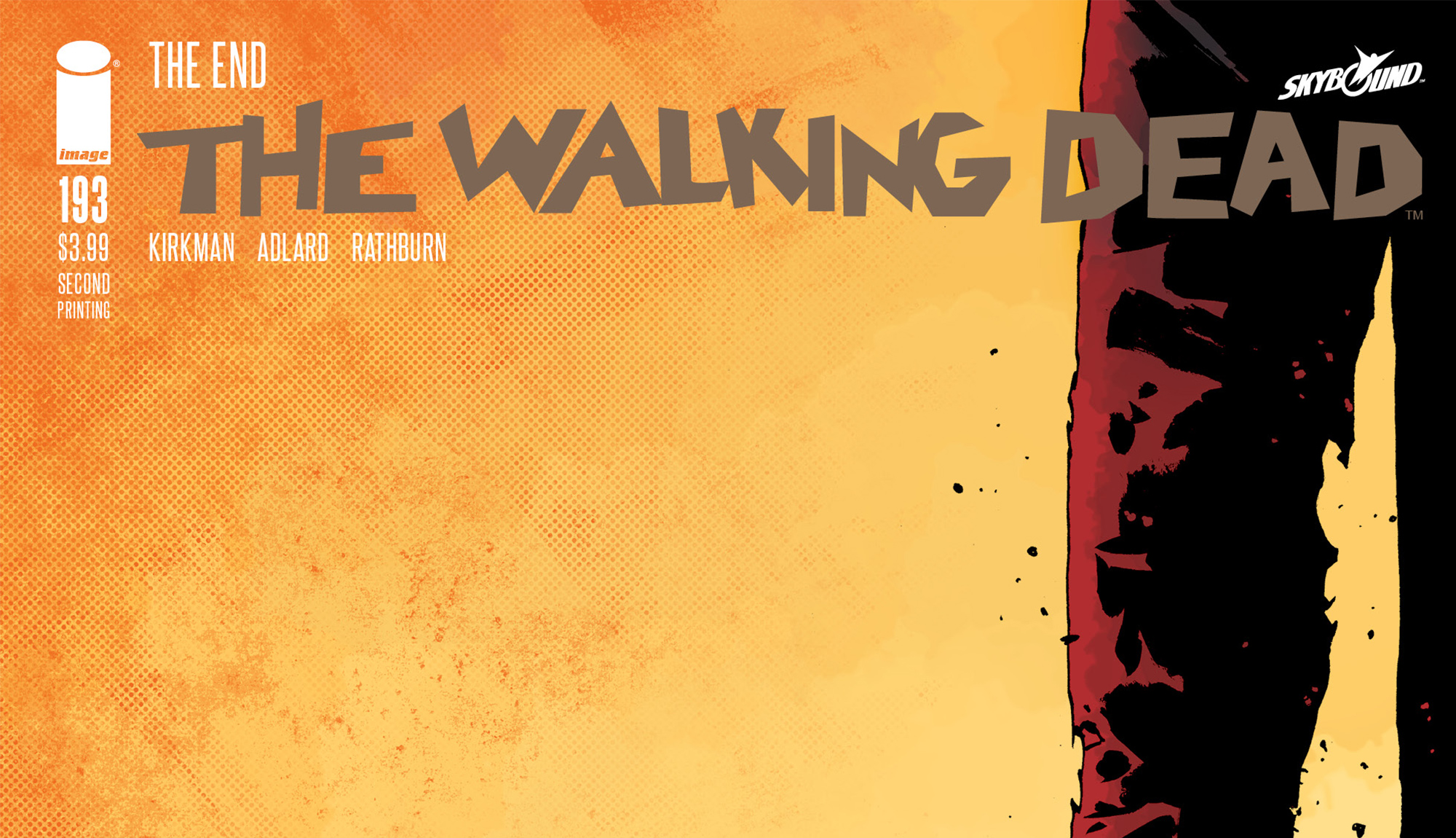 THE WALKING DEAD #193 1ST FIRST PRINTING FINAL ISSUE SHERIFF KAPOOR IMAGE 2019